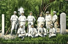 Dodgers Blue Heaven: Baseball in the Philippines - A Vintage Baseball Postcard of a Filipino Team for my Collection Group Pictures, Old Pictures, Best Basketball Shoes, Dodger Blue, Vintage School, My Collection, Dodgers, Filipino, Picture Show