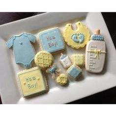 Baby Shower Cookies. On The Dotted i.