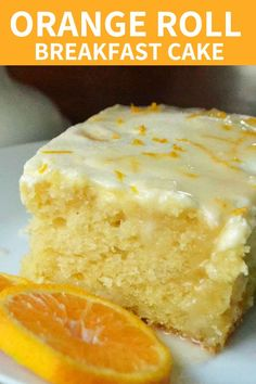 Orange Roll Breakfast Cake - Here is your ticket to get the flavor of orange rolls in no time at all. Breakfast And Brunch, Breakfast Cake, Breakfast Dishes, Orange Recipes Breakfast, Yummy Breakfast Ideas, Brunch Cake, Turkish Breakfast, Breakfast Bread Recipes, Baking Recipes