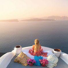 Santorini, Embracing the Views...  @astarte_suites @santorini_greece #Santorini #greece @gabbyepstein