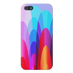 Multicolored Geometric Curves Modern Abstract Cover For iPhone 5- My original abstract modern art with beautiful colors!
