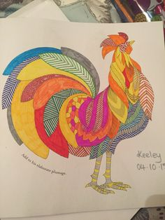 Millie Marotta Animal Kingdom Colouring Page Cockerel Rug IdeasAdult ColoringColouringColoring BooksColoring