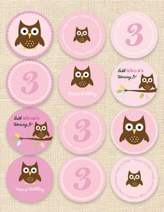 free printable owl cupcake toppers | Recent Photos The Commons Getty Collection Galleries World Map App ...