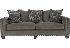 Cindy Crawford Home Sidney Road Gray Sofa.799.99. 96W x 39D x 38.5H . Find affordable Sofas for your home that will complement the rest of your furniture. #iSofa #roomstogo