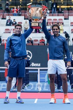Rafael Nadal and Pablo Carreno Busta came back from a one-set down on Sunday to capture the China Open title, which represents their first team trophy. They defeated Jack Sock and Bernard Tomic 6-7(6), 6-2, 10-8 in 89 minutes.
