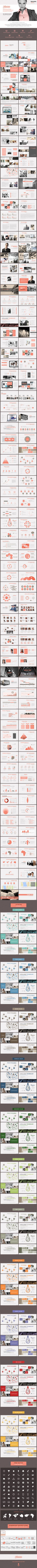 Telelista – PowerPoint Template. It utilizes design with modern functionality, Strategy ideal for any type of business. This slide comes with infographic elements, charts, graphs and icons. This presentation template is so adaptable that it can be used in many different businesses. With this many slides you are able to make a complete PowerPoint presentation that the best suit your needs.