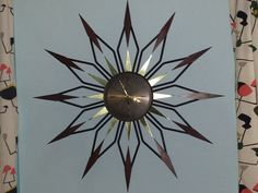 Your place to buy and sell all things handmade Unique Clocks, Vintage Wear, Wall Clocks, Makers Mark, Diamond Shapes, Black Metal, High Gloss, Metal Working, Madness