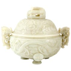Jade Lidded Urn | From a unique collection of antique and modern antiquities at https://www.1stdibs.com/furniture/asian-art-furniture/antiquities/