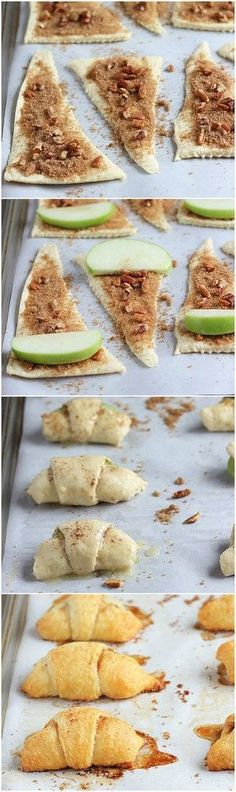 Apple Recipes: Apple Pie Bites -- The perfect Fall/Autumn dessert recipe. Looks easy & yummy too. Fall Dessert Recipes, Fall Desserts, Fall Recipes, Delicious Desserts, Yummy Food, Kid Recipes, Whole30 Recipes, Vegetarian Recipes, Healthy Recipes