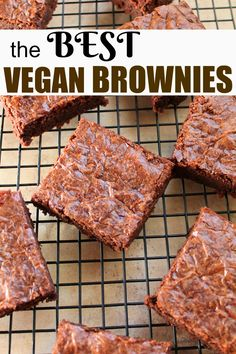 """The ULTIMATE vegan brownie! Fudgy Coconut Butter brownies that rival any traditional brownie, guaranteed. Vegan, gluten-free and only 8 ingredients. These are HUGE hits and declared """"Best"""" brownies even among non-vegans! via @thevegan8"""