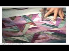add more interest with the same template #Terry_Twist Machine Quilting Tip with #Sally_Terry