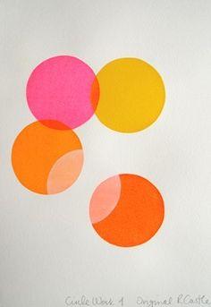 neon pink, yellow, tangerine, orange - LOVE these colors