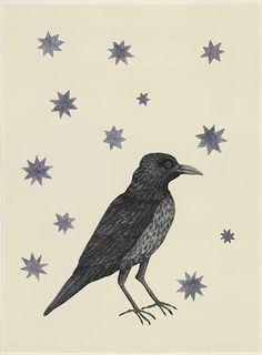 kiki smith - bird with stars