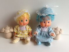 Vintage Strawberry Shortcake BERRY BABIES Dolls Complete