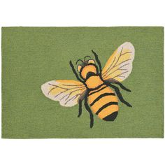 Thos. Baker Bee Green Mat (39 AUD) ❤ liked on Polyvore featuring home, outdoors, outdoor decor, green mat and foot mat