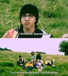 Funny pictures about I think I'm depressed. Oh, and cool pics about I think I'm depressed. Also, I think I'm depressed. Skins Uk, Skins Quotes, Film Quotes, I Think Im Depressed, Best Tv Shows, Favorite Tv Shows, Skins Generation 1, Citations Film, Cinema