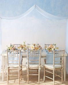 """See the """"Powder Blue and Nude Table Decor"""" in our  gallery"""