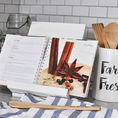 With the ability for fold down flat, this recipe stand makes reading recipes easy and functional. Diy Book Stand, Wooden Book Stand, Cook Book Stand, Wooden Books, Recipe Holder, Food Stands, Kitchen Recipes, Projects, House