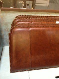 antique leather headboard king - Google Search | Apt in ... on Cognac Leather Headboard  id=53911