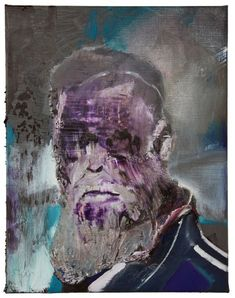 Adrian Ghenie / self portrait as Charles Darwin 3, 2012