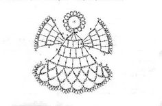 aniołki, gwiazdki i inne na Stylowi.Crochet Patterns Christmas angels, stars and others on Stylowi.Anges au crochet Plus Crochet Angel Pattern, Crochet Angels, Crochet Diagram, Crochet Motif, Diy Crochet, Crochet Doilies, Crochet Christmas Decorations, Christmas Crochet Patterns, Crochet Decoration