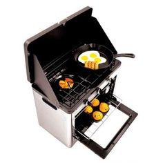 Cocina y horno combinados 2 en 1 portatil a gas. camping.