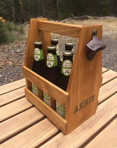 CHRISTMAS ORDERS ---------- Please order as soon as you can. Im still getting the orders completed and shipped in time for Christmas! -------------------------------------------------- Rustic, Handmade Wooden 6 pack beer caddy / beer holder. Made from solid pine, this beer carrier makes a great gift, with all joints glued before nailing for added strength and durability. Includes Removable Plywood Bottle Separators that keep the beer bottles apart and safe, plus also make the carrier more…
