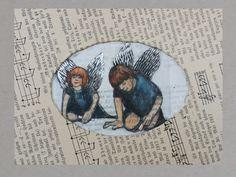 Kunstdruck: Schutzengel http://de.dawanda.com/product/92910927-engels-zeichnung-book-art