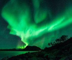 Auroras  Taken by Harald Albrigtsen on October 21, 2014 @ Kvaløya, Tromsø, Norway.