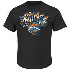 New York Knicks NBA Hardwood Classics Camo Logo T-Shirt (Black)