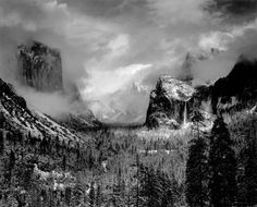Clearing Winter Storm, Yosemite National Park, 1940. Ansel Adams