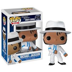 From the Jackson 5 to his own solo career, the King of Pop returns in this Smooth Criminal Pop! Vinyl Figure that stands 3 tall. The Michael Jackson figure has a rotating head, comes in a displayable window box, and features a stylized urban. Michael Jackson Figure, Michael Jackson Vinyl, Michael Jackson Smooth Criminal, Pop Vinyl Figures, Funko Pop Dolls, Funko Toys, Nintendo, Disney Pop, Pop Toys