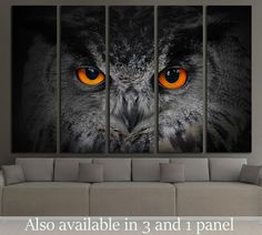The evil eyes, Eagle Owl, Bubo bubo №2339 Framed Canvas Print Canvas Print | Zellart Canvas Arts
