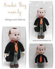 Amigurumi amigurumi Patrón libre Yapılışı- Abogado Abogado de la muñeca   Muy pequeño Mini Diseño