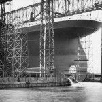 It took tons of soap and train oil to get the hull of Titanic to slide out of the gantry and into the water.