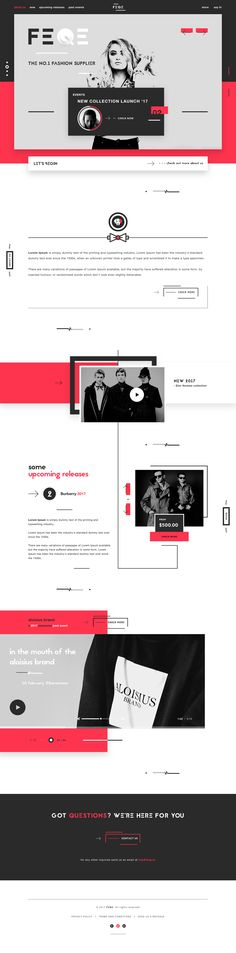 Feqe fashion shopping website online shop luxury ui ux design webdesign dribbble full 4 Keynote Design, Ui Ux Design, Webpage Layout, Digital Web, Shopping Websites, Web Design Inspiration, User Interface, Esports, User Experience