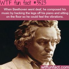 How Beethoven felt the music when he was deaf - WTF fun facts