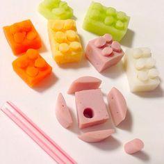 簡単なので作ってみてね! 大人のキャラ弁やオードブルにも可愛いアクセントになりますよ(≧∇≦) - 106件のもぐもぐ - ブロックの作り方 by 富士子