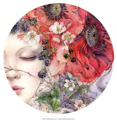 Stephanie Law - watercolor painter, botanical illustrator and artist of fantastical dreamworld imagery.