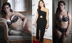 Proving size 16 sexy! Supermodel launches lingerie for plus-size women