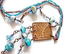 Libélula Boho collar collar de Murano collar por MarianneMerceria