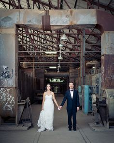 I love these industrial wedding pics.Click on the pic it will take you to the site to see more..kinda cool..