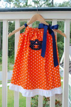 Silly Lilly Kids Pillowcase Dress Auburn by SillyLillyKids. $34.00, via Etsy.