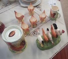 Getting in the Easter mood! Border Fine Arts chicken breakfast set including egg cups and toast rack now available. Chicken Breakfast, Breakfast Set, Toast Rack, Egg Cups, Easter, Mood, Home Decor, Interior Design, Home Interiors