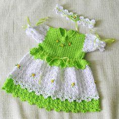 Детские вязаные вещи Crochet Baby Dress Free Pattern, Crochet Potholder Patterns, Crochet Doll Dress, Baby Afghan Crochet, Baby Girl Crochet, Crochet Baby Clothes, Crochet For Kids, Knit Crochet, Baby Frocks Designs