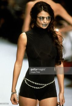 Helena Christensen at the Chanel Spring 1996 show