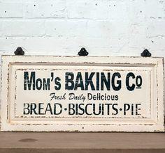 Mom's Baking Co. Kitchen Sign | antiquefarmhouse.com