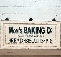 Mom's Baking Co. Kitchen Sign | antiquefarmhouse.com