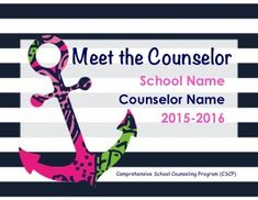 Super cute, upbeat Powerpoint presentation for a School's Comprehensive School Counseling Program. Great to show at a beginning of the year Parent Teacher meeting, an advisory council meeting, or faculty meeting. It is a way to rally the troops and get all stakeholder's involved in your counseling program.