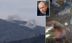 """{   PUTIN TAKES HIS REVENGE: RUSSIA UNLEASHES HEAVY BOMBARDMENT ON REGION HELD BY TURKMEN REBELS WHO CHANTED 'ALLAHU AKBAR' OVER THE DEAD BODY OF PILOT SHOT DOWN BY TURKISH F-16   }  #DailyMailUK ..... """"Putin has also deployed the S-400 - a highly advanced anti-aircraft system boasting a fearsome 250mile strike range.""""... http://www.dailymail.co.uk/news/article-3333117/Downed-Russian-pilot-picked-Syrian-army-envoy.html#ixzz3sXoJyryq"""